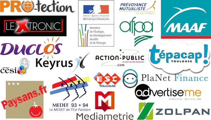 Références clients Note Bleue : médiamétrie, lextronic, Ministère de l'écologie, MAAF assurances ...