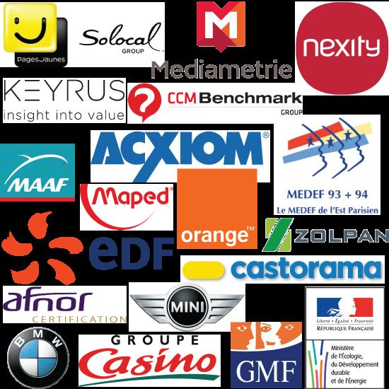 Nos références : Médiamétrie, GMF Assurances, Maped, Zolpan, EDF, Mini, BMW, CCM Benchmark, Castorama ...