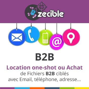 Fichiers B2B / BtoB - Email SMS téléphone Fax Postal - location & achat